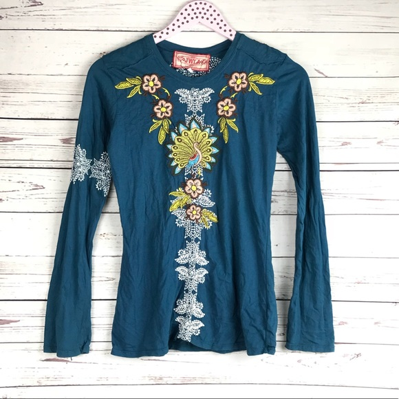 755681659 Johnny Was Embroidered Long Sleeve Tee. M_5b86bec7b6a9423f455fd1d8